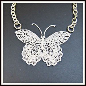 Make your Own Lace Butterfly DIY Jewelry