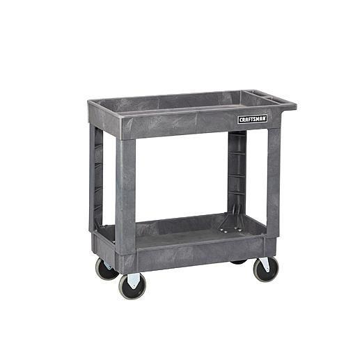 "Craftsman 34-1/2"" 2-Shelf Heavy-Duty Plastic Utility Cart: $89.99 From Sears"