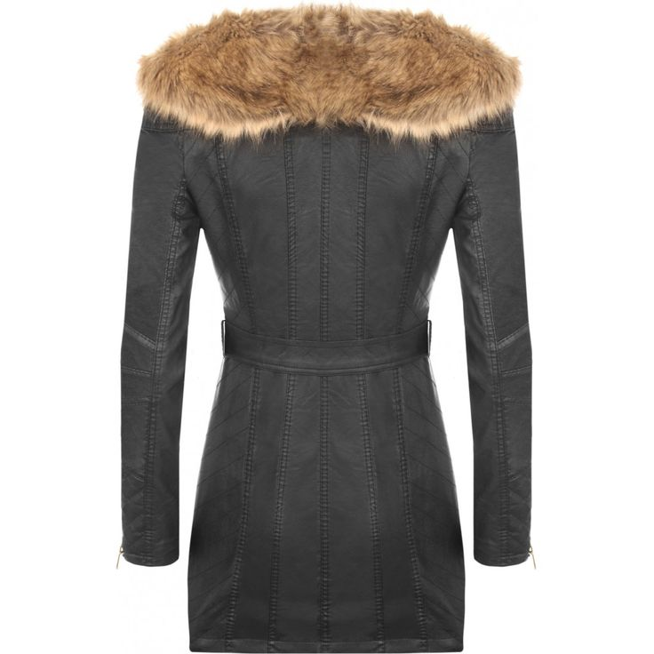 Libby Fur Collar Biker Jacket
