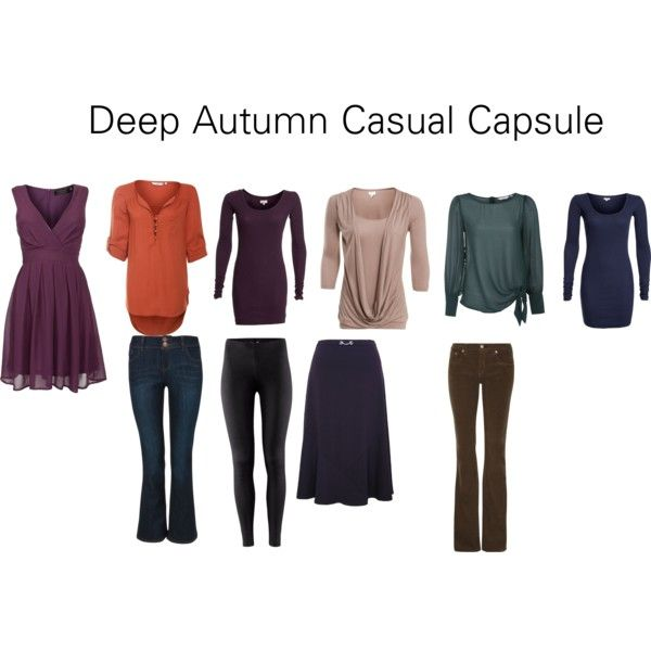 """Deep Autumn Casual Capsule"" by katestevens on Polyvore"