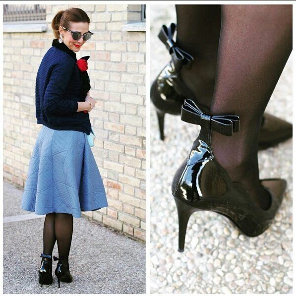 #cute & feminine with @sergio_amaranti #BeKate #pumps with @fashionandcookies Share your looks to be featured #GlamExpress or http://ift.tt/1LKibRA (Upload on site to win cool stuff)   #madeinitaly #ootd #fashion #outfit #love #thatsdarling #italianblogger #fashionblogger #fashionblog #like #girl #woman #swag #grease #bow #heels #tights #pantyhose #ponytail #tweetgram #instagood #instacool #igersfashion #fashiondiaries