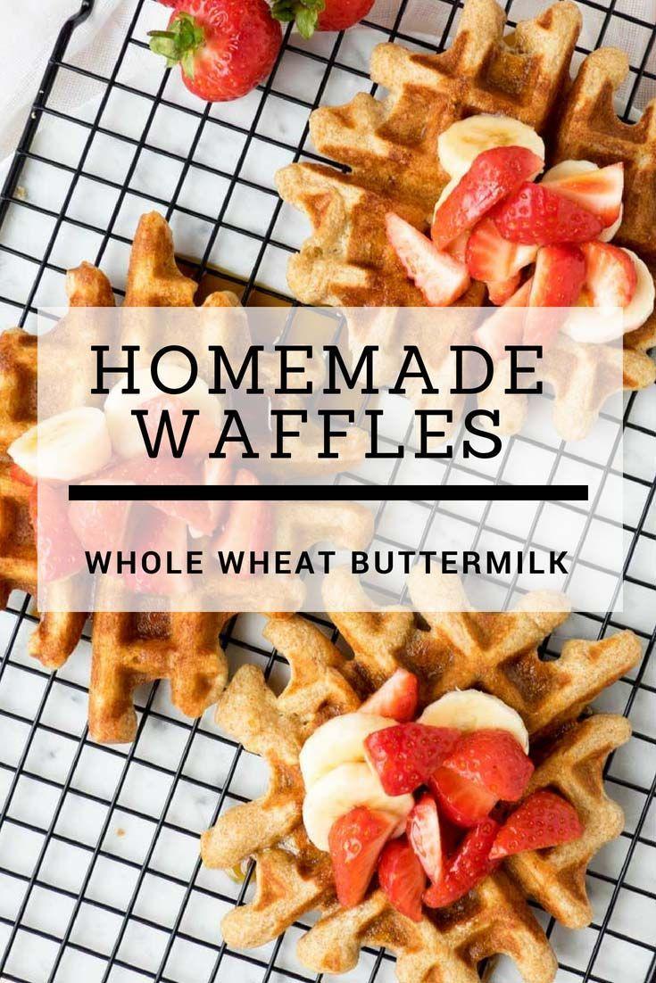 Homemade Waffles Whole Wheat Buttermilk Waffles The Worktop Recipe Homemade Waffles Breakfast Brunch Recipes Waffles Recipe Homemade
