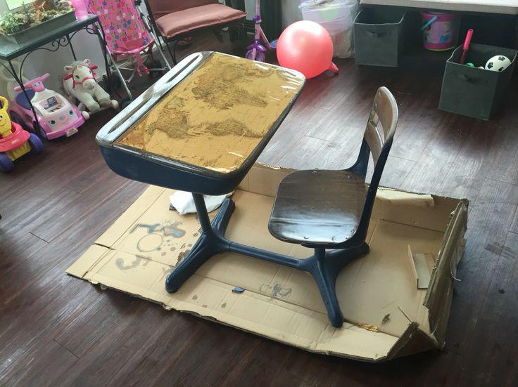 Old fashioned desk repurposed