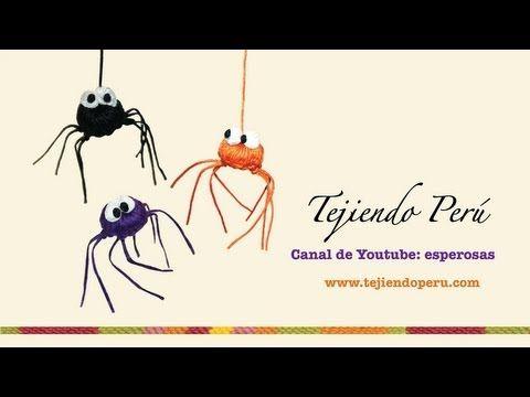 Arañas de Halloween tejidas a crochet - YouTube