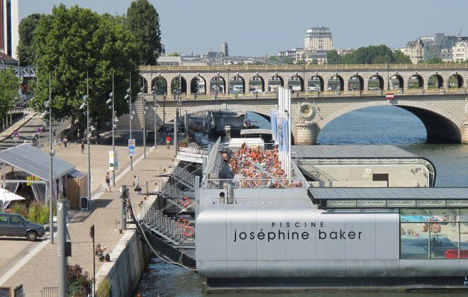 33 best floating pool images on pinterest pools for Josephine baker swimming pool