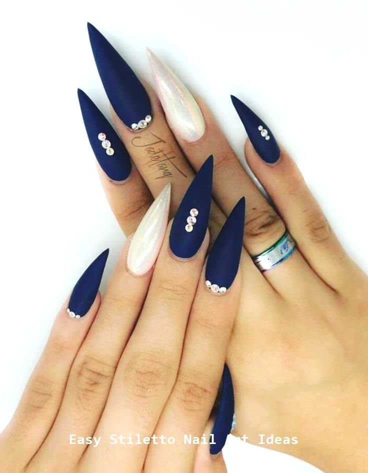 30 große Stiletto Nail Art Design-Ideen #naildesigns – Trending Stiletto Nail Art Desings