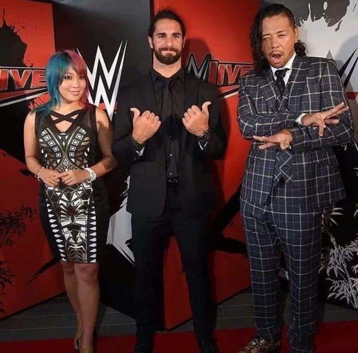Asuka, Seth Rollins, and Shinsuke Nakamura