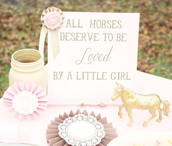 Fancy Farmgirl Birthday Party {Pink & Ponies!} // Hostess with the Mostess®