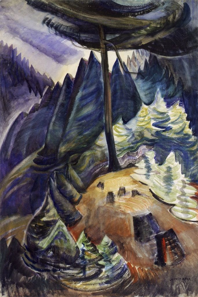 Pines in May, 1929-30. Emily Carr. VAG 42.3.103