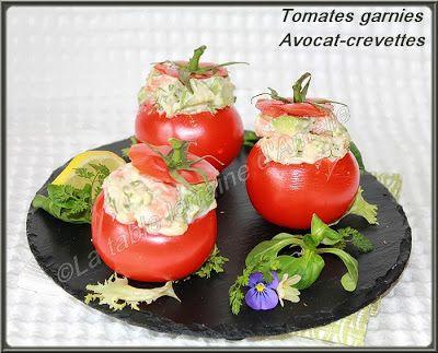 LA TABLE LORRAINE D'AMELIE: Tomates farcies à l'avocat et crevettes