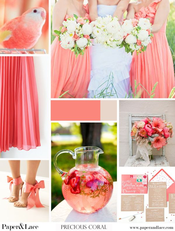 Beautiful #coral #wedding colour #idea. Watch those details and inspire yourslelf.