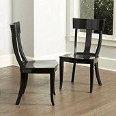 Arletta Klismos Dining Chairs - Set of 2