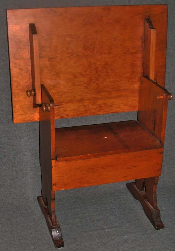 Captivating Mission Shaker Honey Pine Tilt Top Trestle Table Chair Bench Drawing Stand  36x24