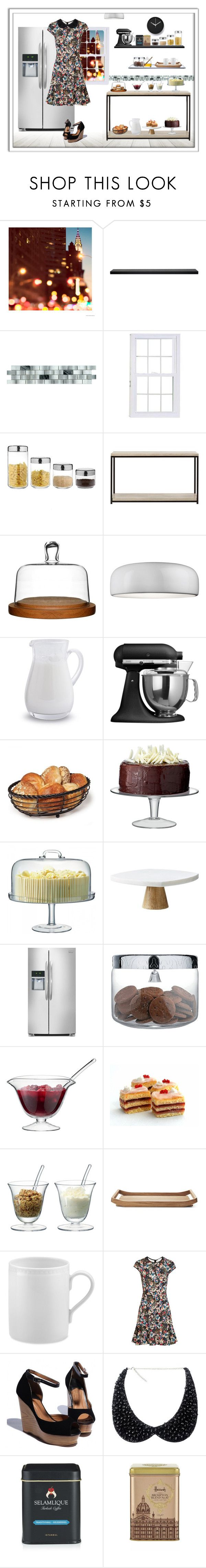 """""""Dinner for friends..."""" by m2ri ❤ liked on Polyvore featuring URBN, Craftsman, Alessi, Home Decorators Collection, Sagaform, Flos, Sur La Table, KitchenAid, Mikasa and LSA International"""