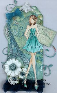 Prima Doll with Strapless Dress stamp