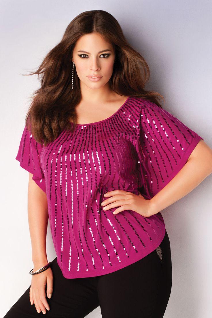 Addition Elle Holiday Lookbook 2012, Ashley Graham, sequins, plus size