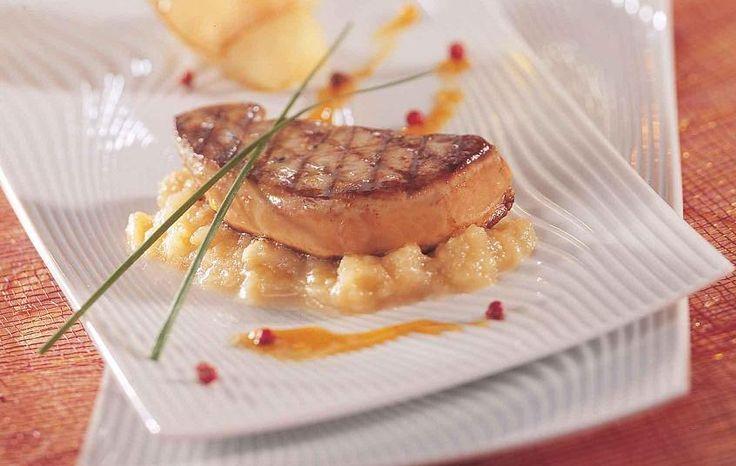 Foie Gras de Canard Poêle aux pommes