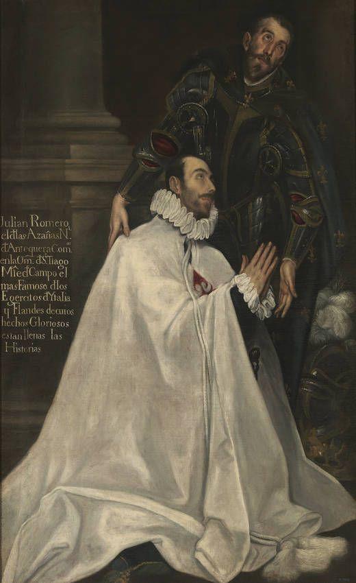 Julián Romero y su santo patrono, 1612 - 1618 (seguidor del Greco).