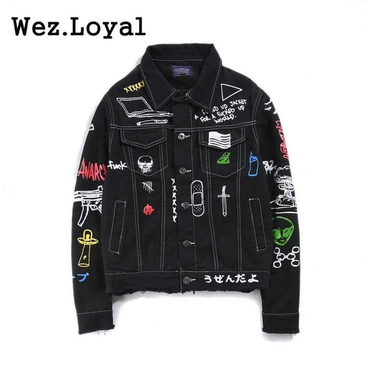 Find More Jackets Information about Wez.Loyal Fashion 2017 Denim Jacket Coats Mens Printed Jeans Coat Hip Hop Casual Black Blue Graffiti Hand Painted Denim Jackets,High Quality Jackets from Wez.Loyal9999 Store on Aliexpress.com