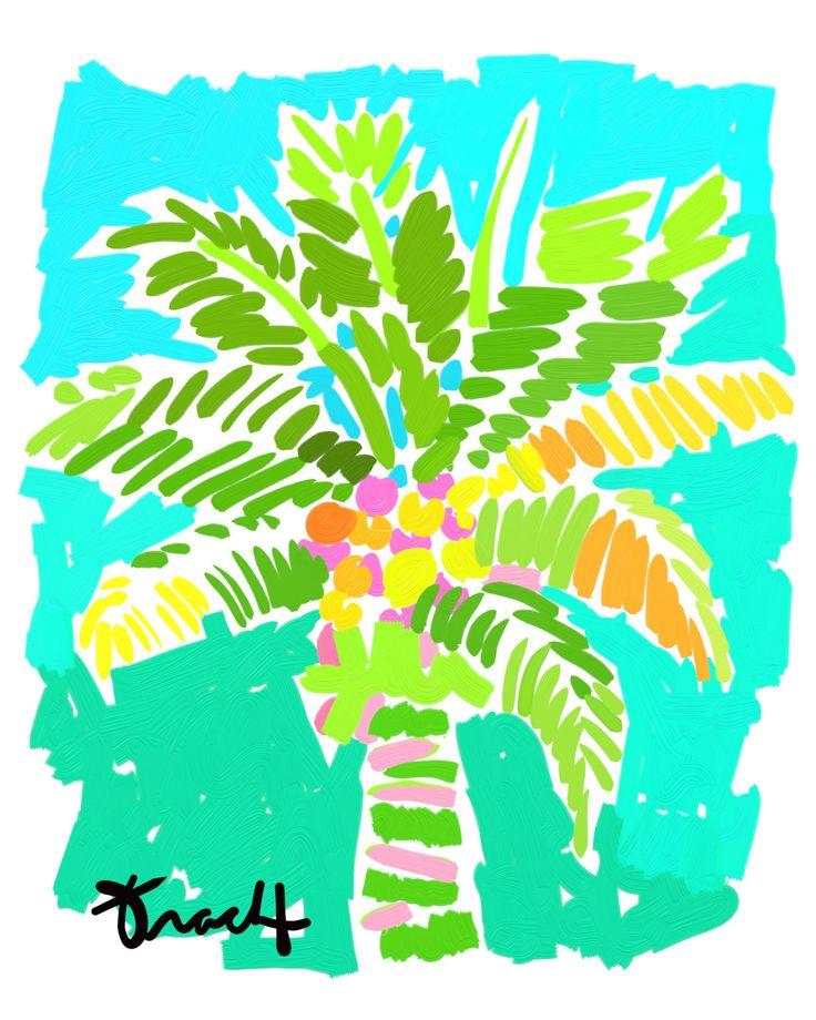 10 besten Palm trees Bilder auf Pinterest | Wasserfarben, Palmen und ...
