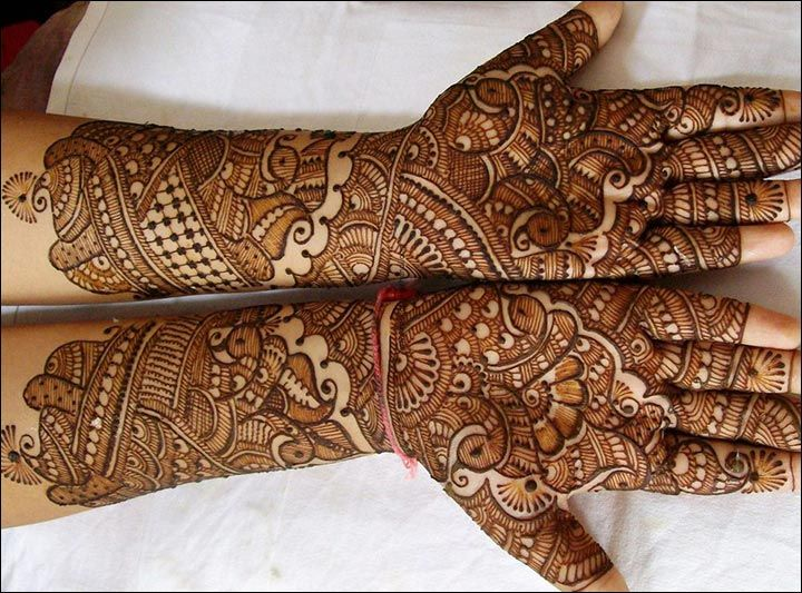 Rajasthani Bridal Mehndi Designs For Full Hands - The Classic Design