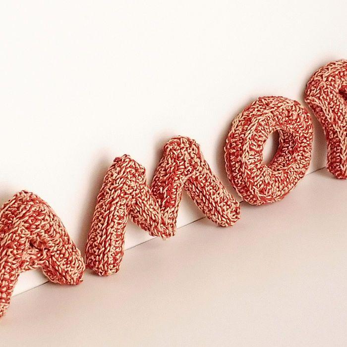 PUNTXET Cómo hacer letras de ganchillo #crochet #handmade #DIY #love #tutorial