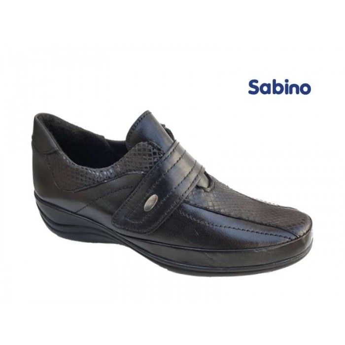 Sabino 876-6 Μαύρο δέρμα