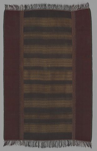 Indonesia | Batak People, Sumatra | Shoulder Cloth (Ulos) | ca. 1900 | Cotton; warp ikat 166 x 113 cm (65 3/8 x 44 1/2 in.)