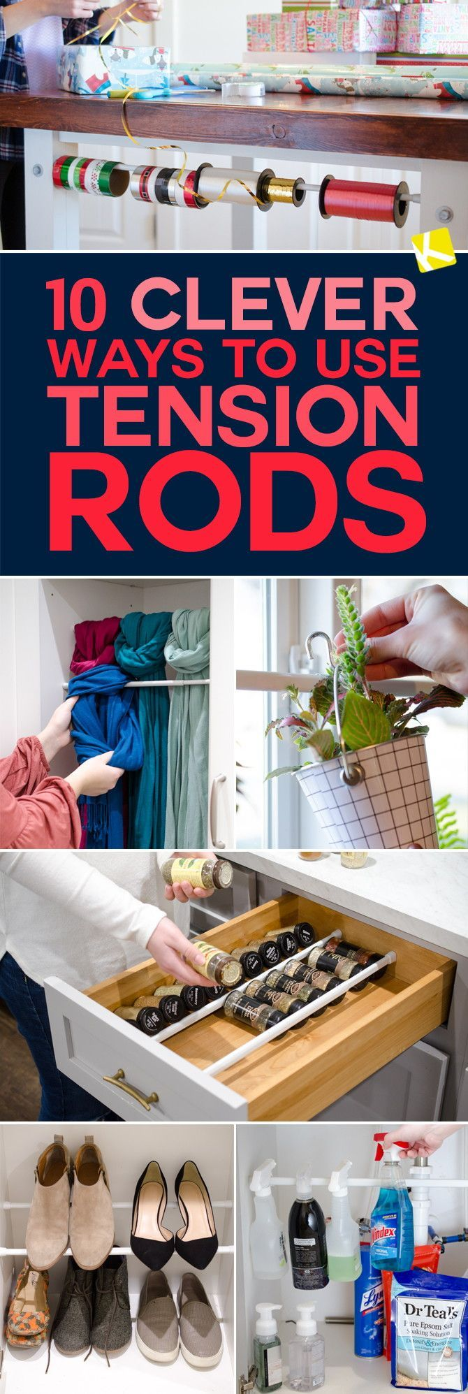 10 Amazingly Clever Ways to Use Tension Rods