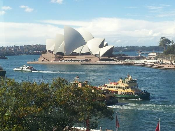 Opera House Sydney - picture taken from the top floor (3rd) of the Museum of Contemporary Art, Circular Quay Sydney.  #sydney
