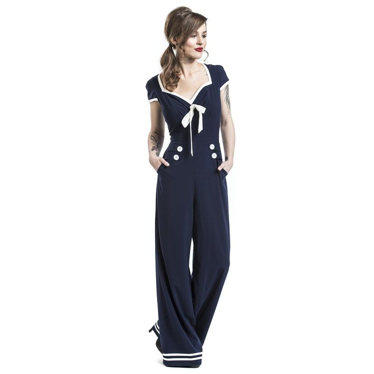 """Tuta """"Marine Jumpsuit"""" del brand #VoodooVixen."""