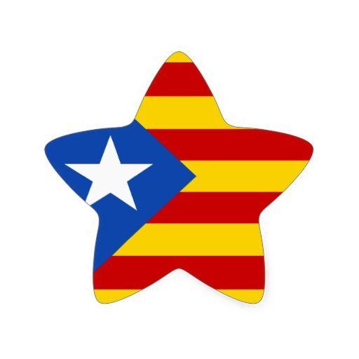 Estelada Blava Star Catalan Independence Flag Sticker