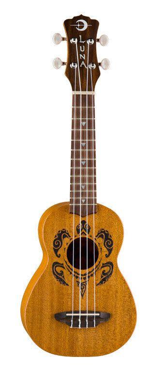 Luna Guitars Honu Turtle Ukulele Soprano Ukulele with Gigbag, New!
