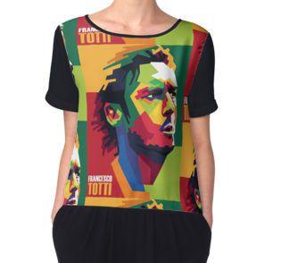 Women's Chiffon TopFrancesco Totti #tottiday #redbubble #tshirt #ASRoma #Italy #SerieA #Football #legend #allstar #masterpiece #player #francescototti