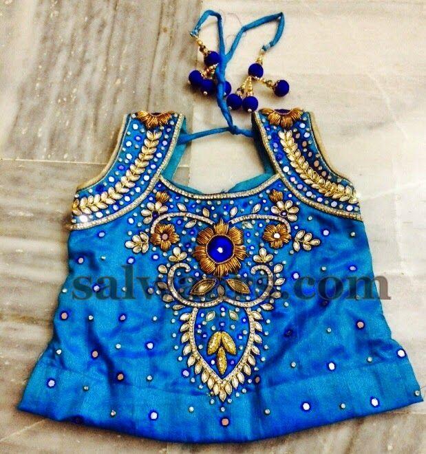 Blue Heavy Mirror Work Skirt | Indian Dresses