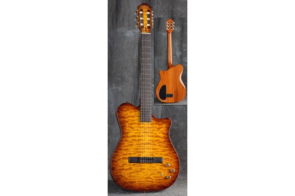 Carvin NS1 Deep HoneyBurst  NS1 NYLON STRING SYNTH ACCESS MIDI GUITAR The NS1 Nylon Synth Access Guitar offers the flavor of a nylon string acoustic with the addition of MIDI synth access. The NS1 features Carvin's expert Custom Shop guitar design.  http://melodiamusik.com/product/carvin-ns1-deep-honeyburst