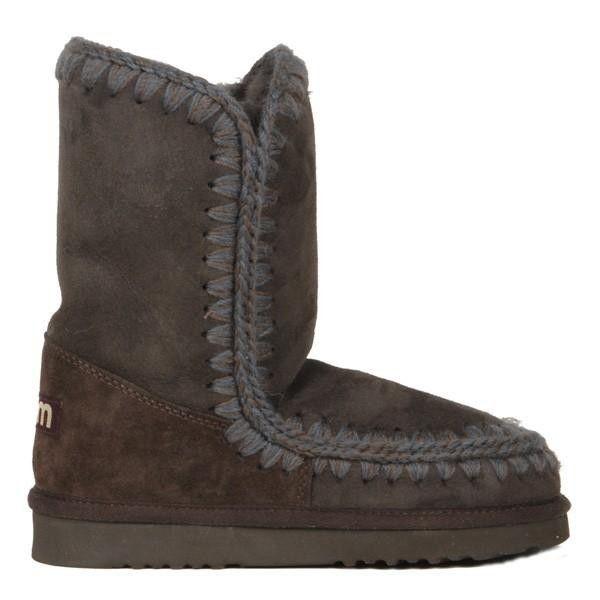 Mou Eskimo Short Boots Women Roan Brown - MOU #mou #eskimo #boots #women #fashion