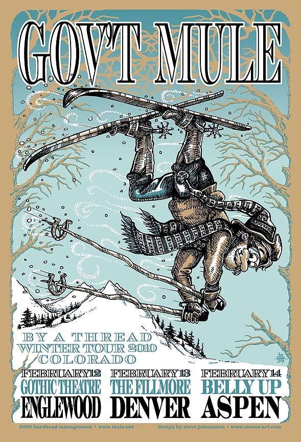 Gov't Mule Concert Poster