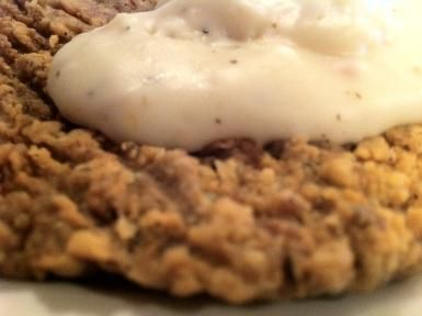 Chicken Fried Steak with White Gravy Recipe: Chicken-fried steak