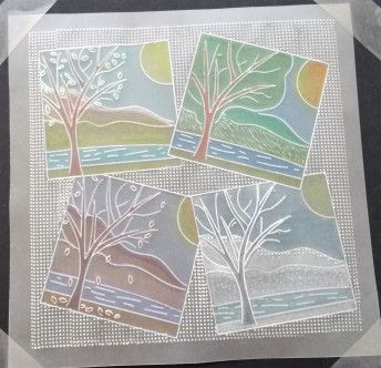 craft group sample using Groovi starter kit and grids
