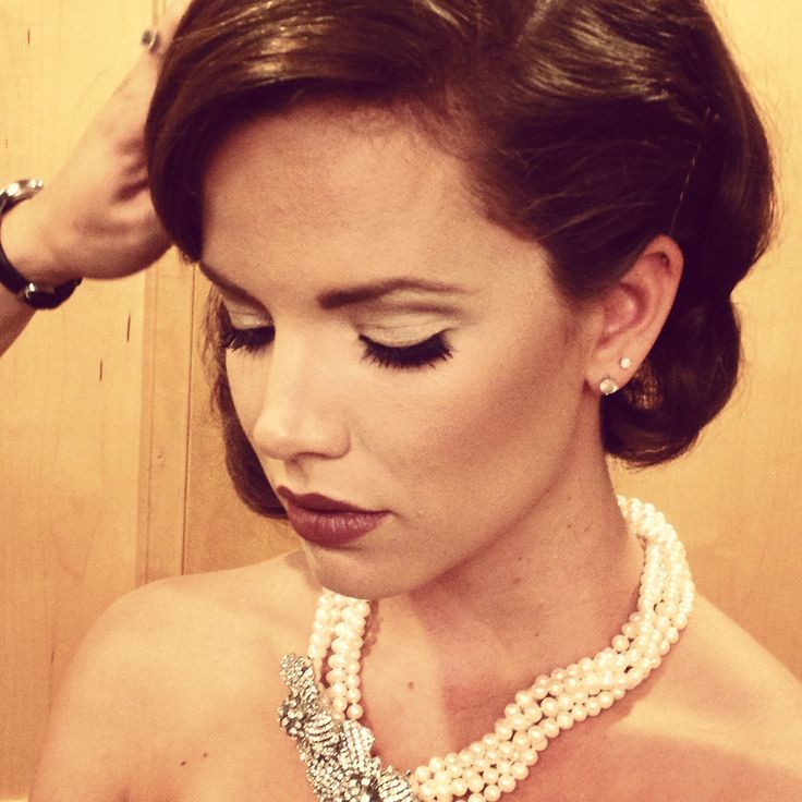 Classic Wedding Makeup | Classic vintage hair and makeup