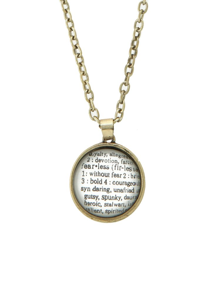 Fearless Definition Necklace | Hot Topic