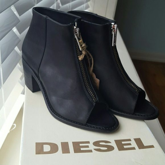 Last call!!NWT! DIESEL heels New with tags! Come with the original box!  Retail price $250 +tax!  Thank you for shopping my closet! Diesel Shoes Heeled Boots
