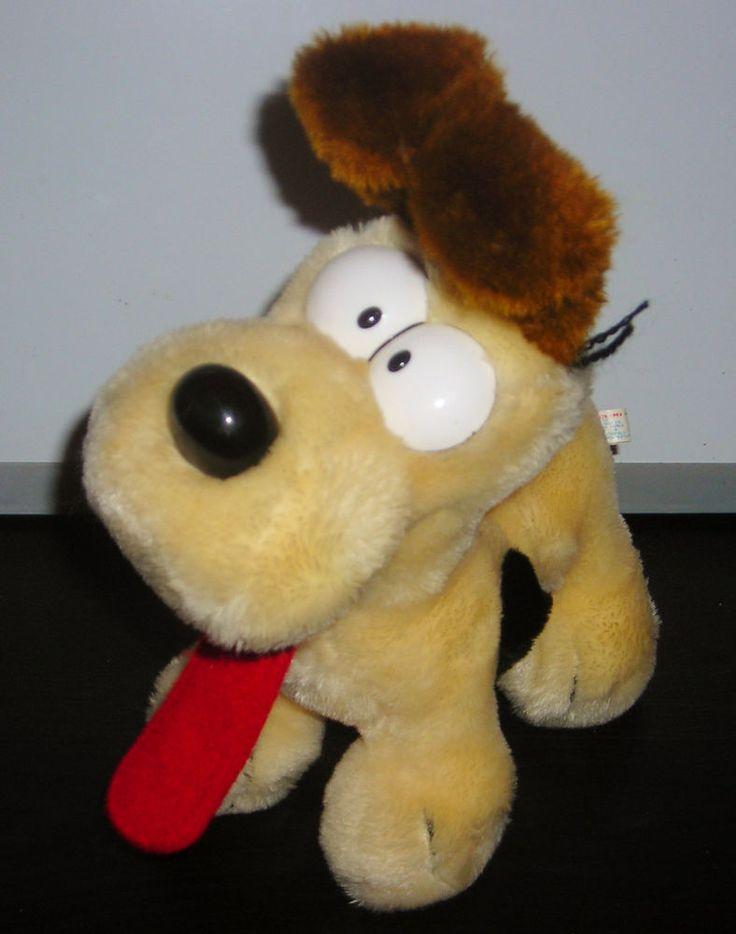 "GARFIELD ODIE THE DOG 10"" SELF STANDING PLUSH TOY DOLL VINTAGE 1983 DAKIN"