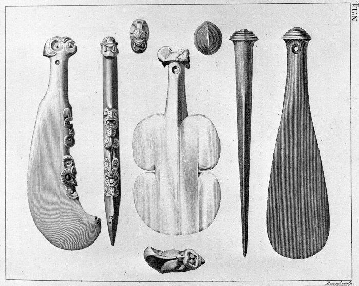 Benjamin John Frederick Miller fl 1770s maori weapons (patu)