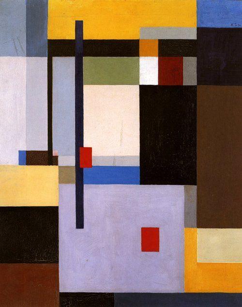 Kurt Schwitters, MERZ 1926, 8 / Bild 1926, 8 Verschobene Flächen (1930, oll on linen, Staatliche Museen zu Berlin