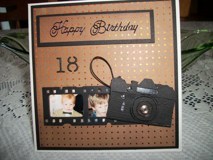 18th Birthday Card Film Strip & Camera