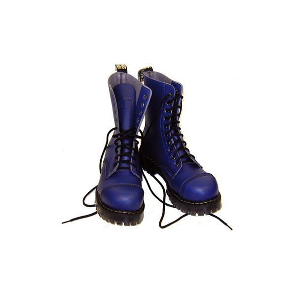 Vegetarian Shoes - Airseal Blue Para Boot (steel toe) ❤ liked on Polyvore featuring shoes, boots, ankle booties, blue ankle booties, vegetarian shoes, steel toe boots, blue boots and blue booties