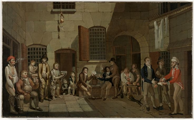 Francis Greenway, Scene inside Newgate Prison, 1812. Oil on canvas. Mitchell Library, State Library of New South Wales: http://www.acmssearch.sl.nsw.gov.au/search/itemDetailPaged.cgi?itemID=441844