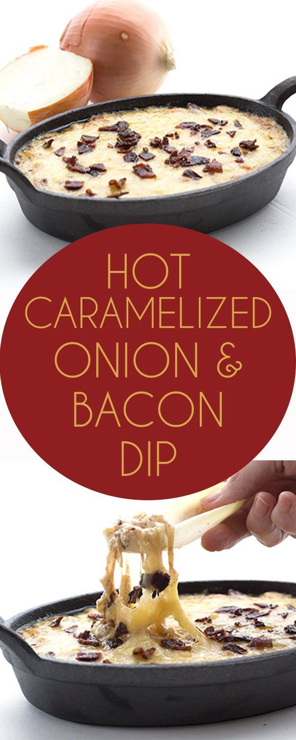 Ooey gooey and so cheesy, this Caramelized Onion Dip is the ultimate low carb keto appetizer recipe. THM LCHF Banting.  via @dreamaboutfood